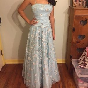 Dresses & Skirts - Light blue pageant or prom gown